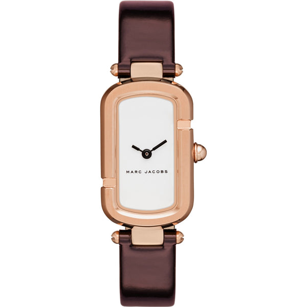 Marc Jacobs Burgundy Leather Strap Watch