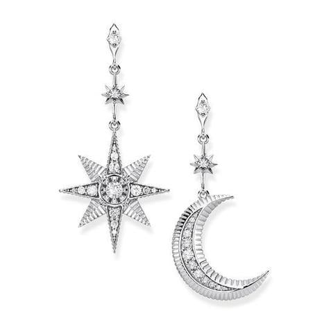 Thomas Sabo Kingdom Star & Moon Mismatched Earrings - TH2026