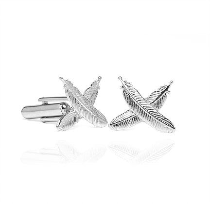 Boh Runga Feather Kisses Cufflinks