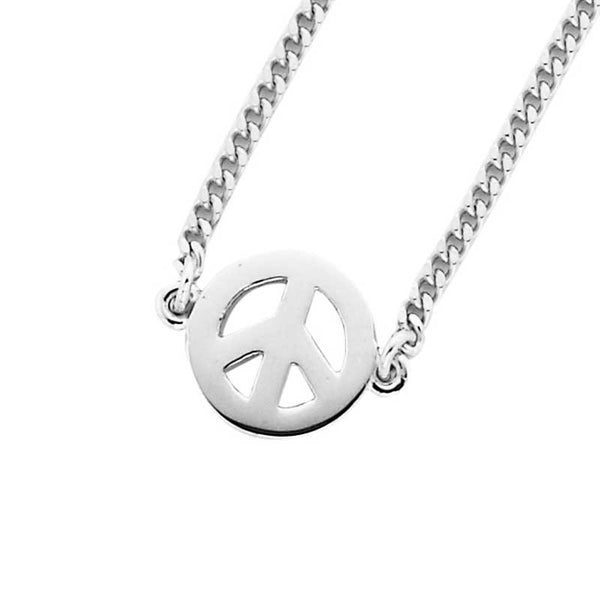 Karen Walker Mini Peace Necklace - Silver