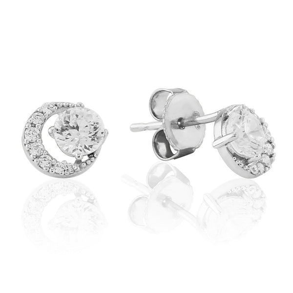 WATERFORD S/S CZ SET CLUSTER EARRINGS WE223