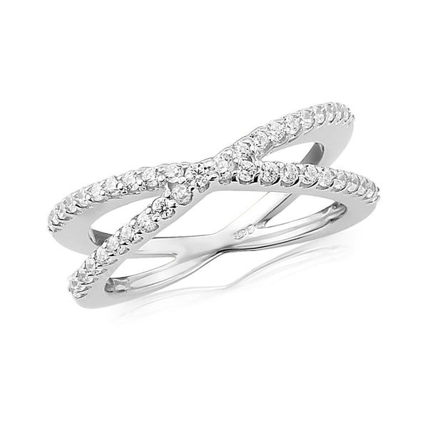 WATERFORD CZ SET RING WR151 - SIZE MEDIUM