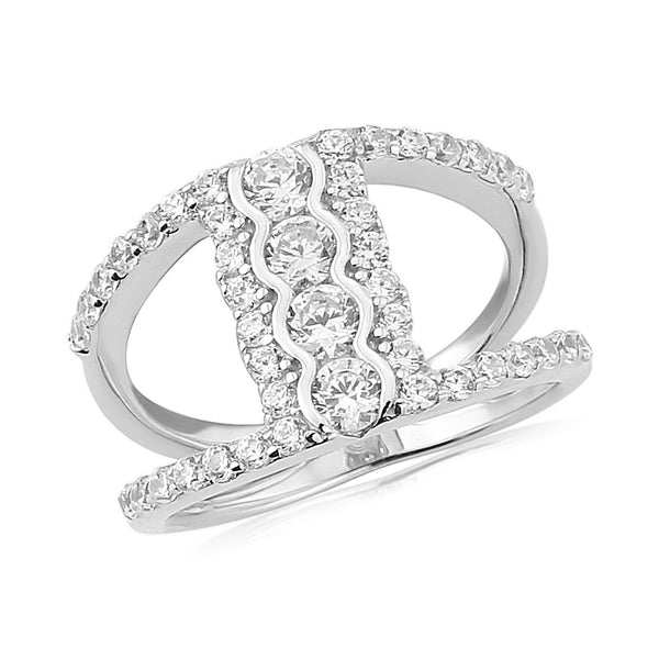 WATERFORD CZ SET RING WR152 - SIZE MEDIUM