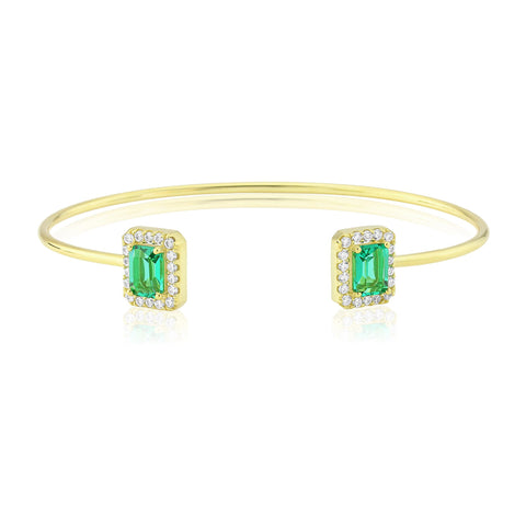 Waterford Synthetic Emerald & CZ Bangle - WB168