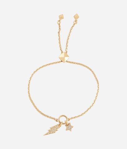 KARL LAGERFELD GOLD STAR AND LIGHTNING BRACELET