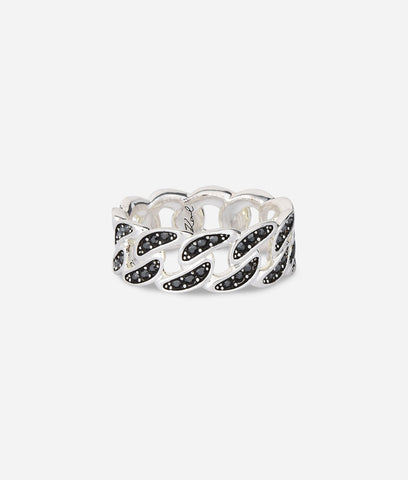 KARL LAGERFELD CHAIN LINK RING - LARGE