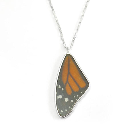Nick Von K Monarch Butterfly Wing Pendant