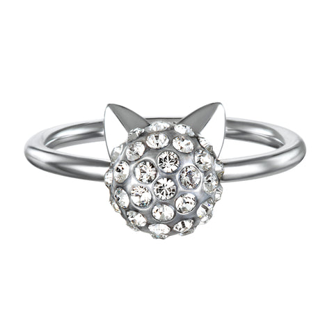 KARL LAGERFELD CRYSTAL CHOUPETTE RING - LARGE