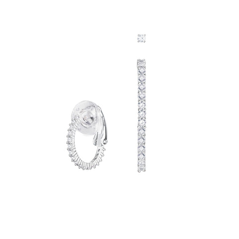 SWAROVSKI VITTORE PIERCED EARRINGS, WHITE, RHODIUM PLATING