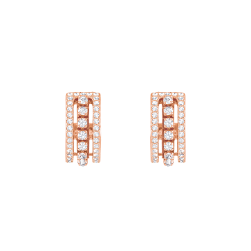 Swarovski Further Pierced Earrings, White, Rose Gold Plate