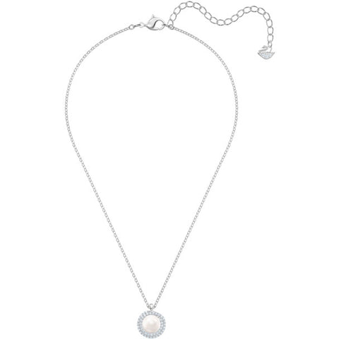 Originally Pendant, White, Rhodium Plating