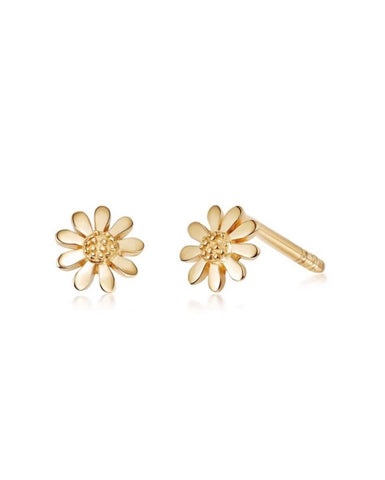 Daisy London - Vintage Daisy 5mm Earrings - Gold Plated