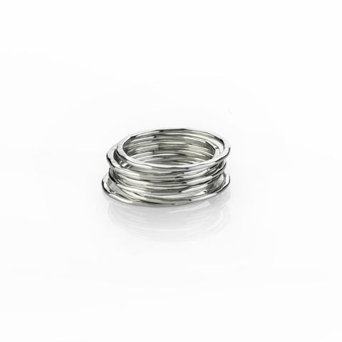 Boh Runga Small But Perfectly Formed Lil Perfect Circle Stacker Rings - Size O