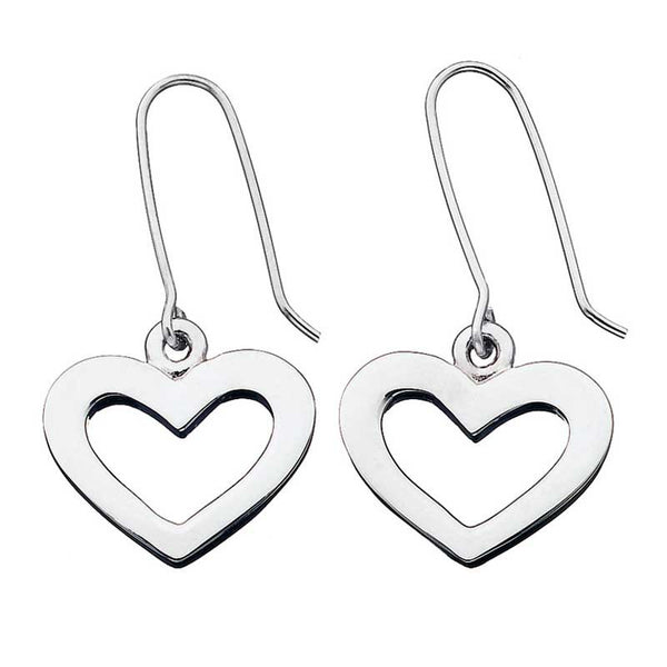 Karen Walker Heart Drop Earrings - Silver
