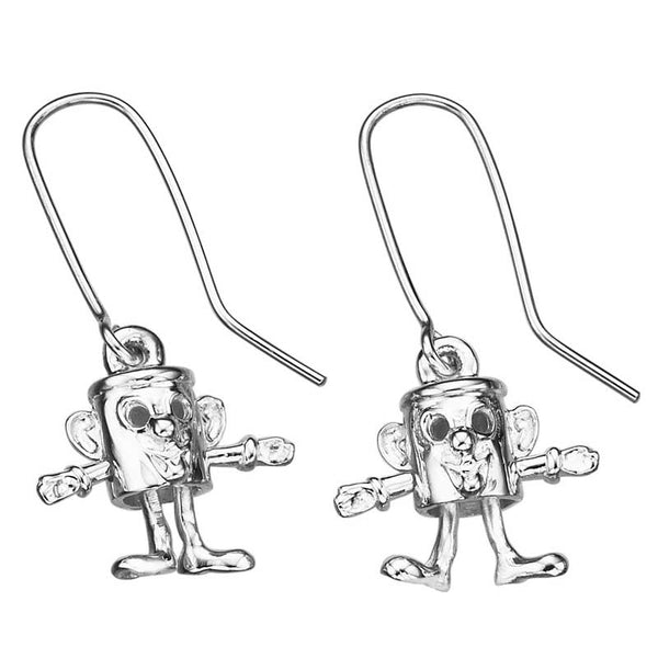 Karen Walker Tin Man Earrings - Silver