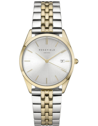 Rosefield 'The Ace' Two-Tone Stainless Yellow Gold Watch - ACSGD-A01