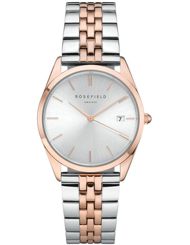Rosefield 'The Ace' Two-Tone Stainless Rose Gold Watch - ACSRD-A06