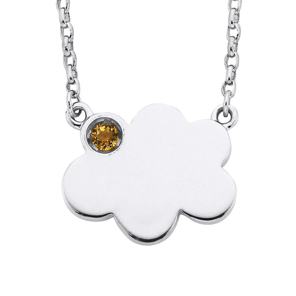 CITRINE STORM CLOUD NECKLACE