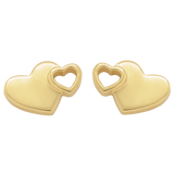 Karen Walker Exploding Heart Studs - 9ct Gold