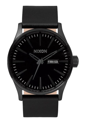 Nixon Sentry Leather - All Black