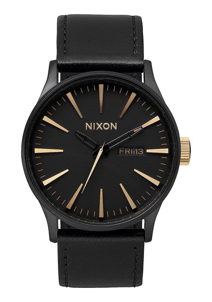 SENTRY LEATHER MATTE BLACK / GOLD