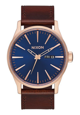 Nixon Sentry Leather - Rose / Navy / Brown