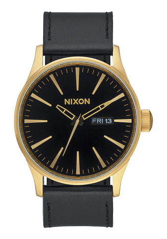 Nixon Sentry Leather - Gold / Black