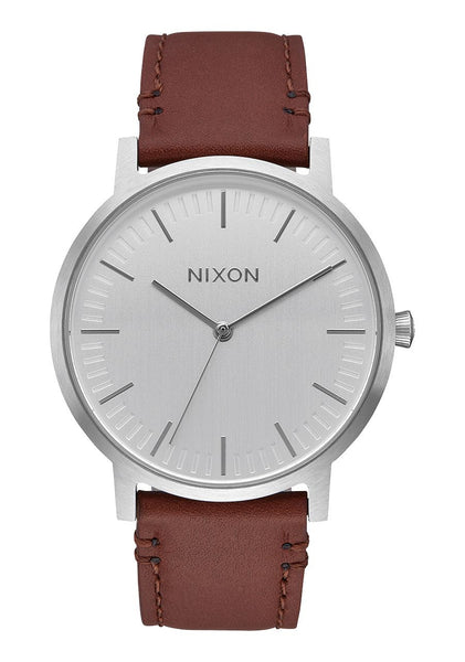 Nixon Porter Leather - Silver / Brown