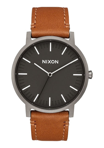 PORTER LEATHER GUNMETAL / CHARCOAL / TAUPE, 40MM