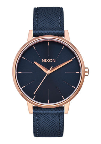 KENSINGTON LEATHER NAVY / ROSE GOLD, 37MM