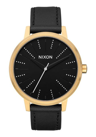 Nixon Kensington Leather - Gold / Black / Silver
