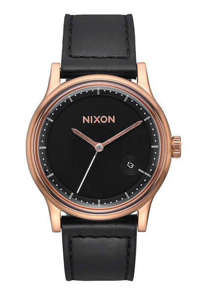Nixon Station Leather - Rose Gold / Black Watch