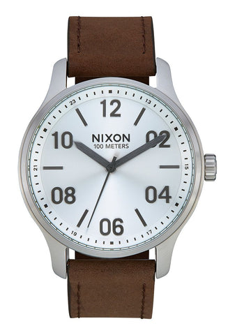 Nixon Patrol Leather - Silver / Brown