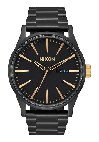 NIXON SENTRY SS - MATTE BLACK / GOLD WATCH
