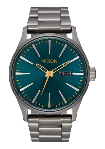 NIXON SENTRY SS - GUNMETAL / SPRUCE / BRASS WATCH