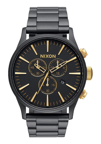 Nixon Sentry Chrono - Matte Black / Gold