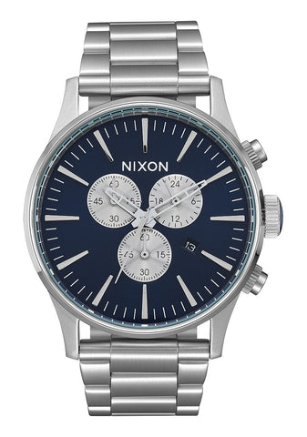 Nixon Sentry Chrono - Silver / Blue Sunray