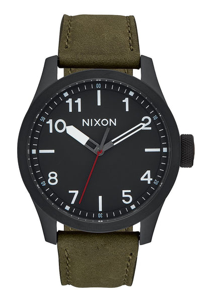 Nixon Safari Leather - All Black / Surplus Watch