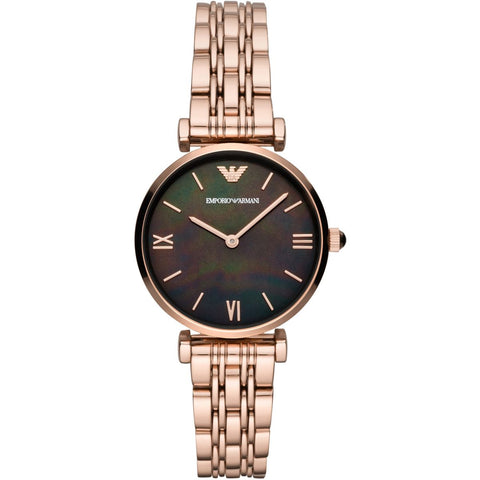 Emporio Armani Rose Gold MOP Dial Ladies Watch - AR11145