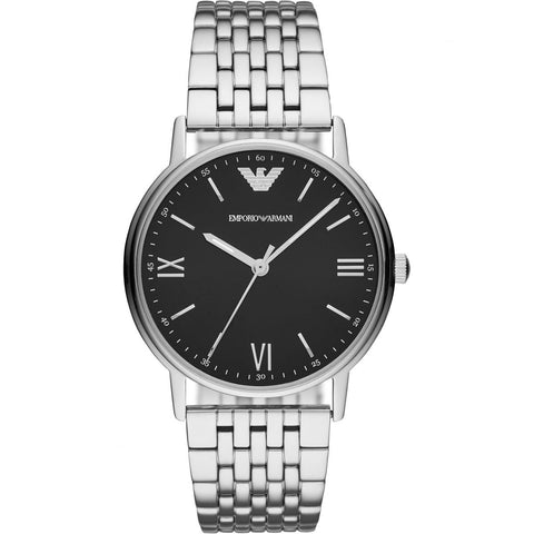 Emporio Armani Stainless Black Dial Mens Watch - AR11152