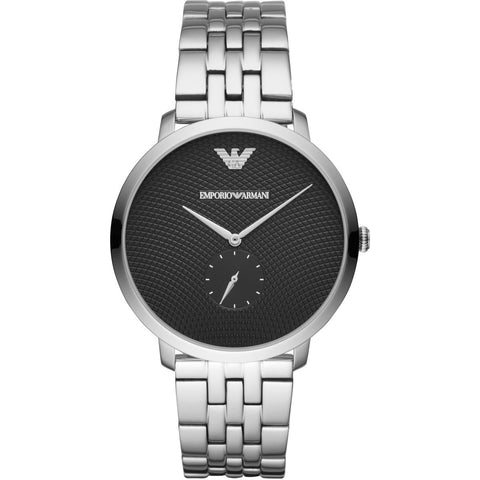 Emporio Armani Stainless Black Dial Mens Watch - AR11161