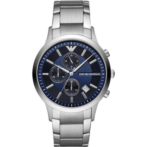 Emporio Armani Stainless Blue Dial Mens Watch - AR11164
