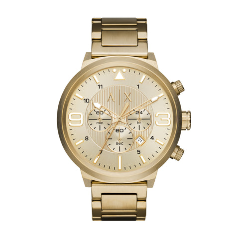 Armani Exchange ATLC Gold Tone Sunray Dial Men's Chronograph Watch AX1368