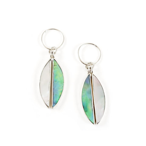 Nick Von K Antipodes Earrings Mother of Pearl / Paua