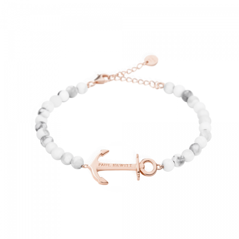 Paul Hewitt Bracelet Anchor Spirit Marble IP Rose Gold