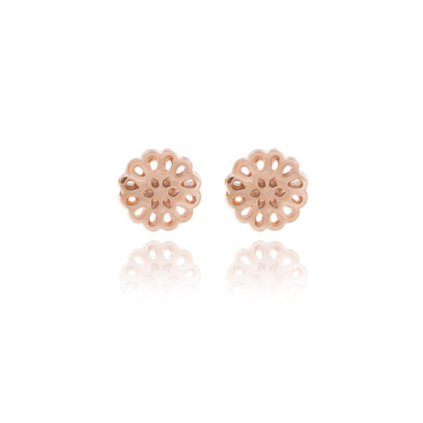 Boh Runga Lotus Studs - 9ct Rose Gold