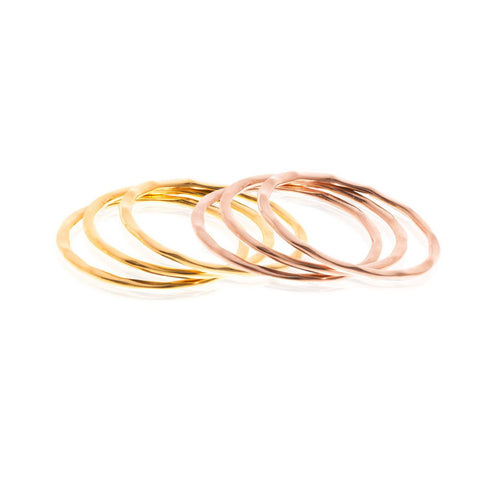 Boh Runga Small But Perfectly Formed Lil Stacker Rings - 9ct Rose Gold, Size K