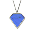 Nick Von K Butterfly Diamond Necklace - Blue Morpho