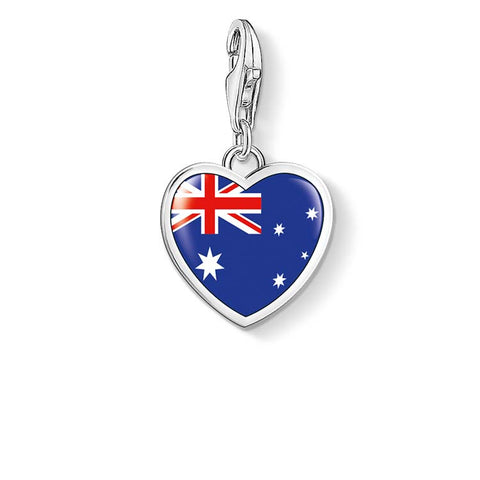 Thomas Sabo Charm Club Austrlian Flag Heart Charm - CC1144