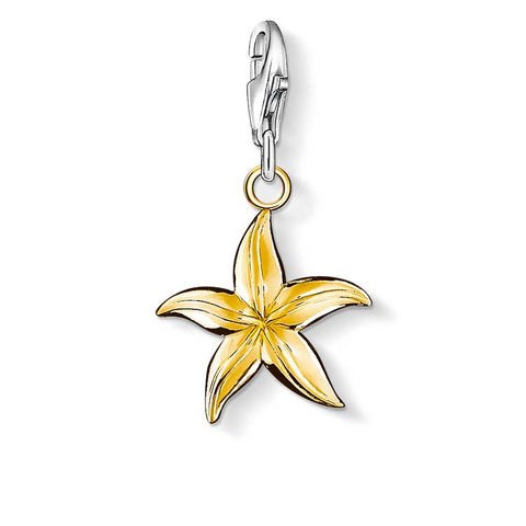 THOMAS SABO CHARM CLUB YELLOW GOLD PLATE STARFISH